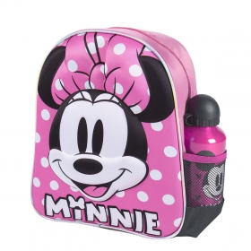 Minnie Mouse 3d kindergarden backpack with watter bottle